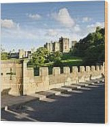 Lion Bridge At Alnwick Castle Wood Print