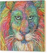 Lion Explosion Wood Print