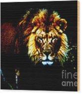 Lion Eyes Wood Print