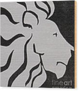 Lion Graphic King Of Beasts Wood Print by M C Sturman