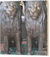 Lion Hearted Share Wood Print