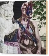 Lion Man Wood Print