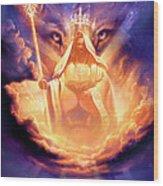 Lion Of Judah Wood Print by Jeff Haynie