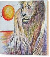 Lion Of Lions Wood Print