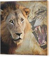 Lion Profile Wood Print