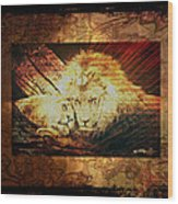 Lion Tapestry - Soulmates Wood Print