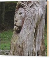 Lion Tree Wood Print