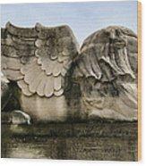 Lion With Wings Wood Print by Patricia Januszkiewicz