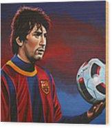 Lionel Messi 2 Wood Print