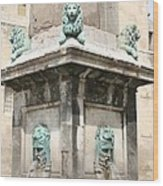 Lionfountain - Part Of The Obelisk - Arles Wood Print