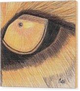 Lions Eye Wood Print by Bav Patel