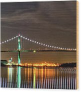 Lions Gate Bridge In Colour Wood Print by Naman Imagery
