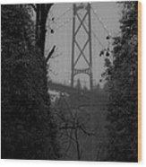 Lions Gate Bridge Wood Print by Nancy Harrison