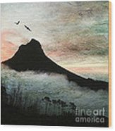 Lion's Head Cape Town Wood Print