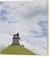 Lions Mound Memorial To The Battle Of Waterlooat Waterloo Belgium Europe Wood Print by Jon Boyes