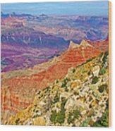 Lipan Point View On East Side Of South Rim Of Grand Canyon-arizona   Wood Print