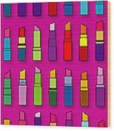 Lipsticks Pattern Wood Print