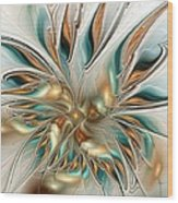 Liquid Flame Wood Print