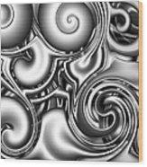 Liquid Metal Wood Print