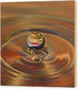 Liquid Orb Wood Print
