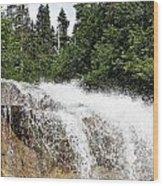 Liquid Snow Wood Print