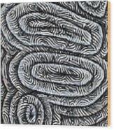 Liquid Waves Wood Print