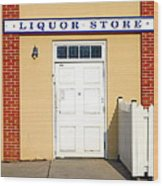 Liquor Store Wood Print