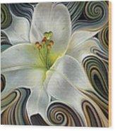 Lirio Dinamico Wood Print