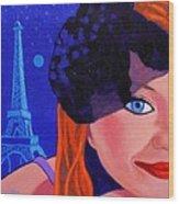 Lisa Darling - Paris - Irish Burlesque Wood Print