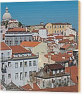 Lisbon Alfama District Wood Print