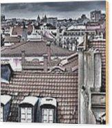 Lisbon Rooftops I Wood Print