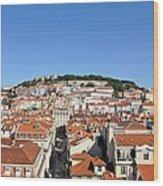 Lisbon Skyline Wood Print