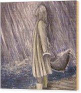 Listen To The Rhythm Of The Falling Rain.. Wood Print