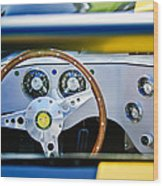 Lister Steering Wheel Wood Print