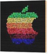 Lite Brite Macintosh Wood Print
