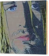 Literally Kurt Cobain Wood Print