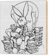 Literary Playboy Wood Print