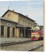 Lithuania. Silute Train Station. 2008 Wood Print
