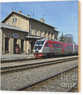 Lithuania. Silute Train Station. 2009 Wood Print