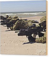 Lithuanian Special Forces Members Lie Wood Print