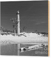 Litle Sable Light Station - Film Scan Wood Print