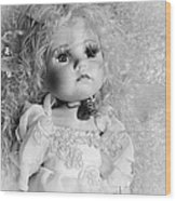 Little Angel In Black And White Wood Print
