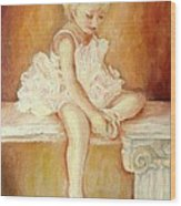 Little Ballerina Wood Print