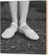 Little Ballerina Feet Wood Print