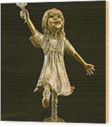 Little Bear Dancer Wood Print