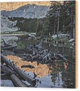 Little Bear Peak Reflection Wood Print