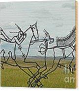 Little Bighorn Battlefield Wood Print
