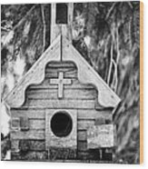 Little Birdie Church Wood Print