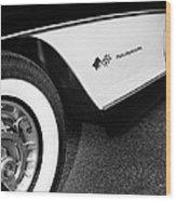 Little Black Corvette Palm Springs Wood Print