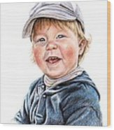 Little Boy Wood Print